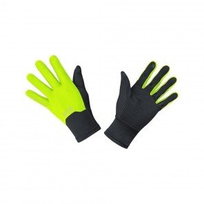 GORE® Gants WINDSTOPPER® Mixte | Black / Neon yellow | Collection Automne Hiver 2018