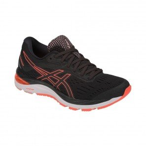 ASICS GEL-CUMULUS 20 Femme - Black / Flash Coral
