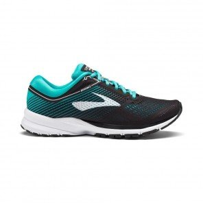 BROOKS LAUNCH 5 Femme Black/Teal Green/White