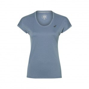 ASICS Tee-shirt Manches Cape Femme | Azure Heather | Collection Automne Hiver 2018