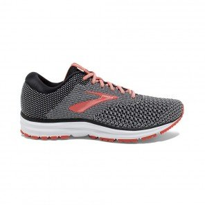 BROOKS REVEL 2 FEMME | BLACK/LIGHT GREY/CORAL