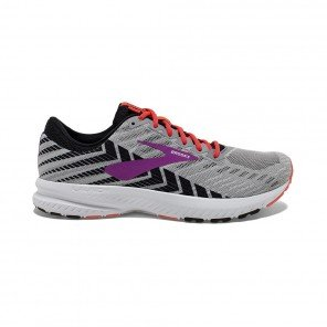 BROOKS LAUNCH 6 FEMME | GREY/BLACK/PURPLE