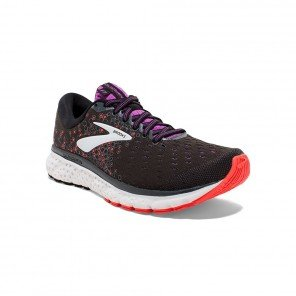 Brooks Glycerin 17 Femme | Black / Fiery Coral / Purple