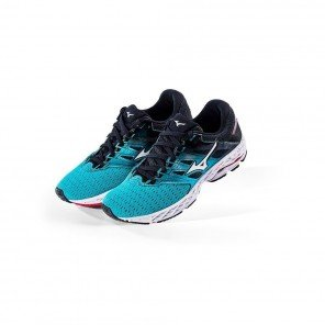 MIZUNO WAVE SHADOW 2 Femme Peacock Blue/Silver/Teaberry | Collection Automne Hiver 2018