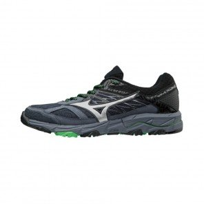 MIZUNO WAVE MUJIN 5 Homme Ombre Blue/Silver/Poison Green | Collection Automne Hiver 2018