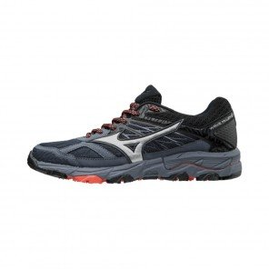 MIZUNO WAVE MUJIN 5 Femme Ombre Blue/Silver/ Hot Coral | Collection Automne Hiver 2018