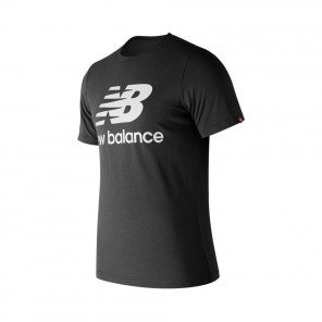 NEW BALANCE Tee-shirt Essentials Stacked Logo Homme   Black   Collection Automne Hiver 2018