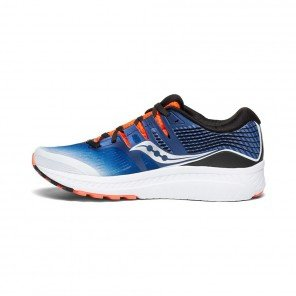 SAUCONY RIDE ISO Homme White Blue | ViZiRed